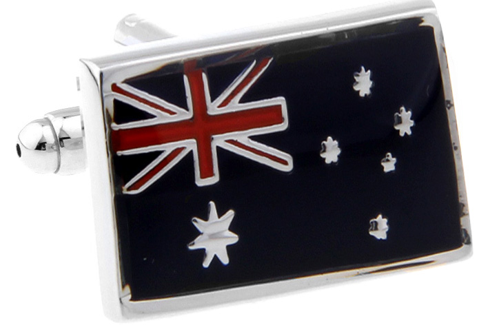 Promotion! Men Cufflinks wholesale&retail top copper Black Colour Australian Flag Design Cuff links Free Shipping