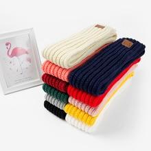 Модный милый детский шарф для мальчиков и девочек; сезон осень-зима-весна; Детский шарф с помпонами; теплые шарфы для шеи; вязаный шарф