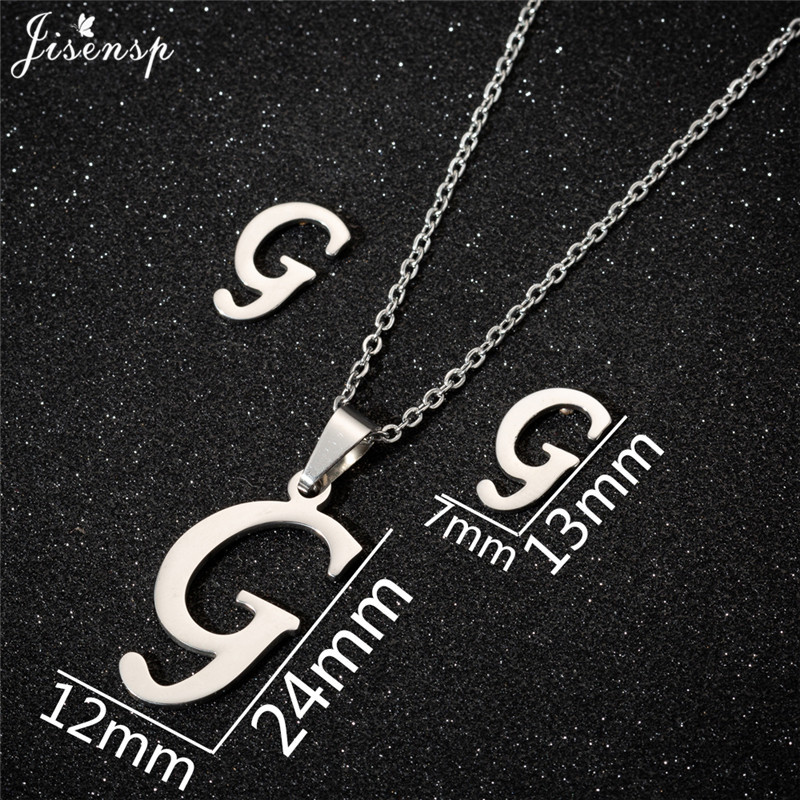 Jisensp Personalized A-Z Letter Alphabet Pendant Necklace Gold Chain Initial Necklaces Charms for Women Jewelry Dropshipping 14