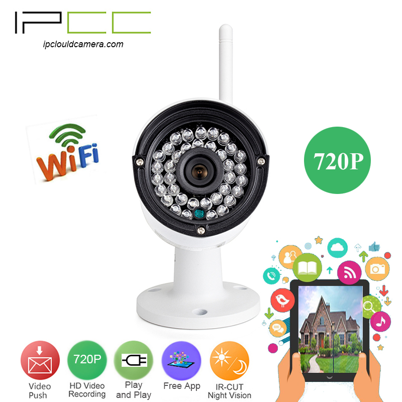 IPCC Built-in8G TF card 720P bullet wifi ip camera Wireless Surveillance  Network Security Camera  playback Video files in hand