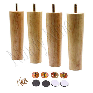 Image 4 - Furniture Legs Solid Wood Sofa Replacement Leg for Coffee Table Cabinet,100% Oak, Set of 4