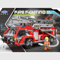Xingbao City Series the Airport Fire Fighting Car Building Blocks Compatible Legoinglys City Firefighter Trucks Children Toys