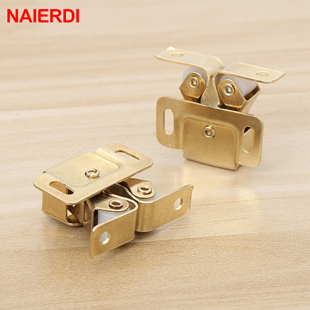 NAIERDI 2PCS Door Stop Closer Stoppers Damper Buffer Magnet Cabinet Catches With Screws For Wardrobe Hardware Furniture Fittings
