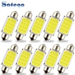Image 1 - Safego 10pcs C5W LED COB Festoon 31mm 36mm 39mm 42/41mm Bulbs for Car License Plate Light Interior Reading Lamp DC 12V White
