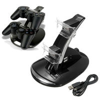 2015 Hot Newest Quick Dual Charger Charging Dock Stand USB Cable For Sony For PlayStation 3
