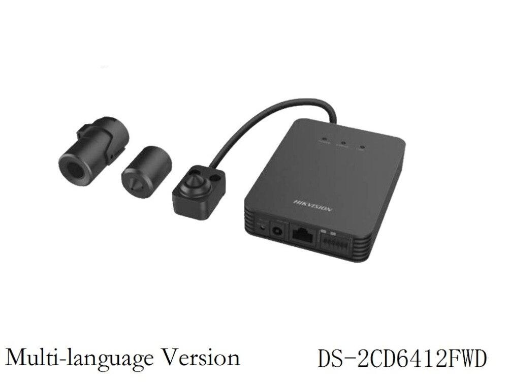 Multi language Version DS 2CD6412FWD 8M 1 3MP Pinhole mini CCTV IP Camera Security Video Surveillance