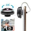 Universal de 235 grados lente ojo de Pez Lente ojo de Pez Desmontable Para Tabletas teléfono Iphone HTC Galaxy nota Lentes APL-FE235 S7