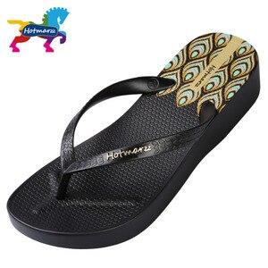 Image 4 - Hotmarzz tongs à talons hauts pour femmes, pantoufles dété, sandales tanga de plage, chaussures de maison