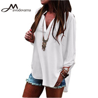 Avodovama M Loose Casual New Fashion Women Blouse Long Sleeve Plus Size Female Solid Blouse Tops