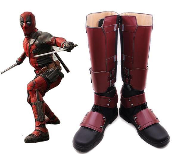 Deadpool From X-men Cosplay Superhero X-Men Deadpool Boots Shoes High Quality PU Custom Made