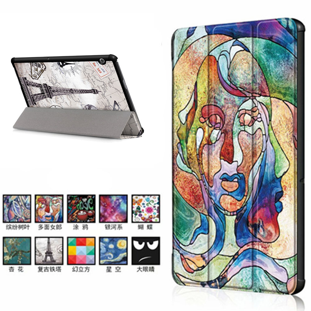 PU Leather Cute Case For Huawei Mediapad T5 AGS2-W09/L09/L03/W19 Stand Cover For Huawei Mediapad T5 10 10.1