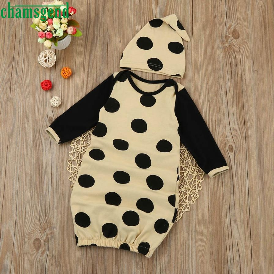 Childrens clothing fashion Newborn Infant Kids Baby Girl Polka Dot Cotton Long Sleeve Pa ...