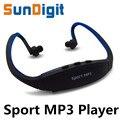 Venta caliente Para 2016 Cabeza Deporte MP3 Player Radio FM Al Aire Libre usar mp 3 jugadores deportes auriculares música de la ayuda sd micro/tf