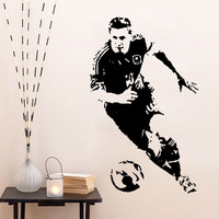 New Caved Football Player Lionel Messi Wall Stickers Football Star Poster Decals 85x53cm