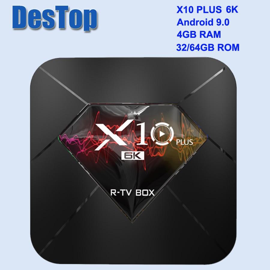 X10 Plus TV Box Android 9 0 4GB 32GB 64GB Allwinner Quad Core WiFi 3D Set