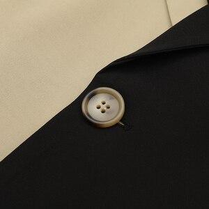 Image 5 - EAM coupe vent pour femmes, nouveauté, style style style printemps automne, coupe vent à revers à manches longues, boutons dépissage, Bandage, ample, grande taille, à la mode, JY712