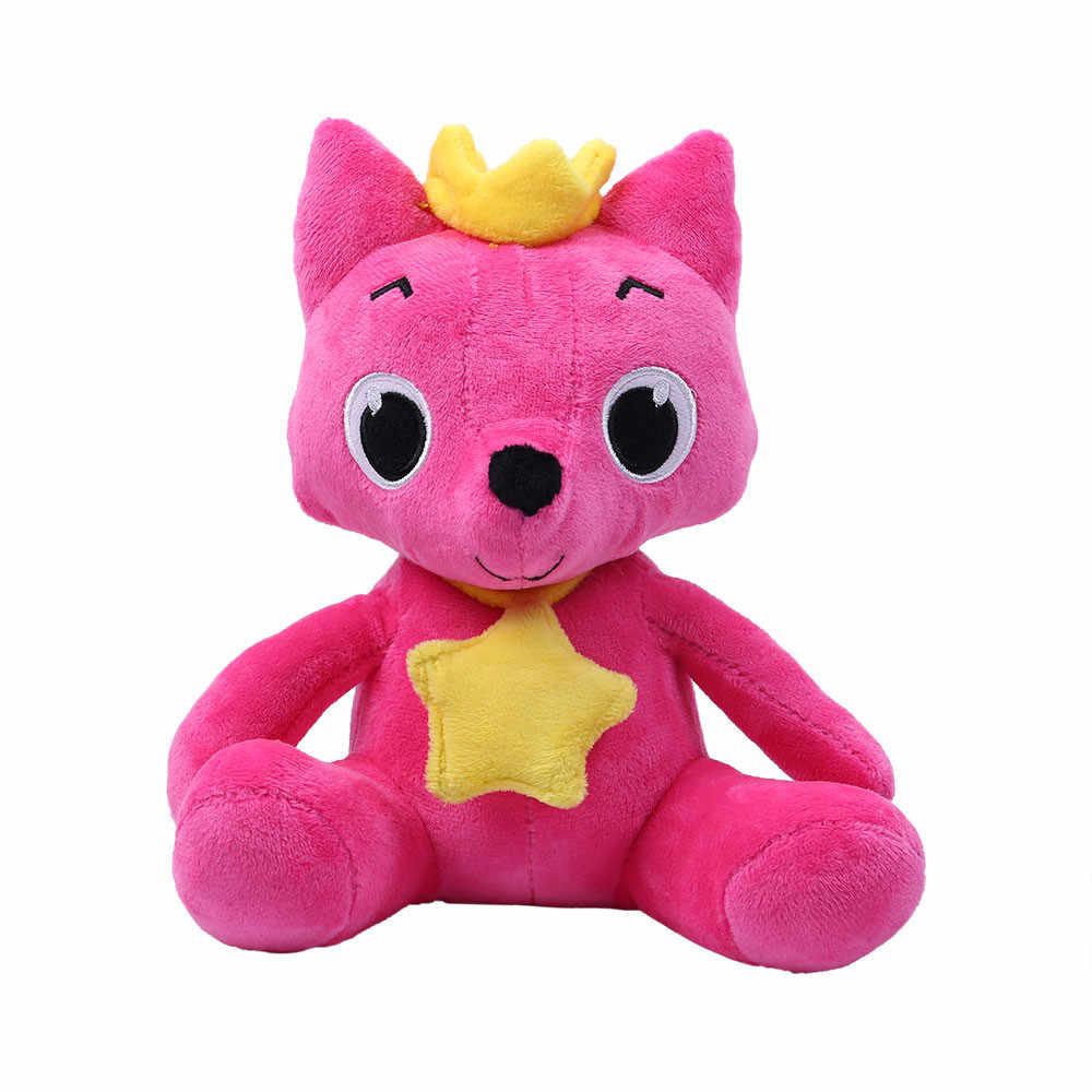 Мультяшные Мягкие плюшевые игрушки лиса акулы мягкие куклы детские животные детские игрушки милые каваи игрушки Детские куклы-модели ребенка Рождественский подарок