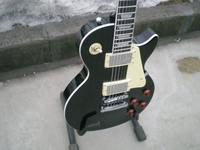 Free Shipping Classical Black Chinese LP Standard Electric Guitar Left Handed Custom Available