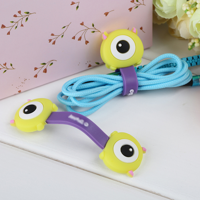 FFFAS 2 Pieces Cute Cartoon Anime Mobile Phone USB Cable Fastener ...