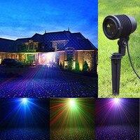 Перемещение RGB Star лазерный свет проектора красный зеленый синий открытый IP65 Водонепроницаемый рождественские точки эффект сада и дома Дере