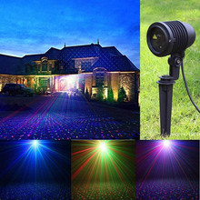 Moving RGB Star Laser Lights Projector Red Green Blue Outdoor IP65 Waterproof Christmas Dots Effect Garden