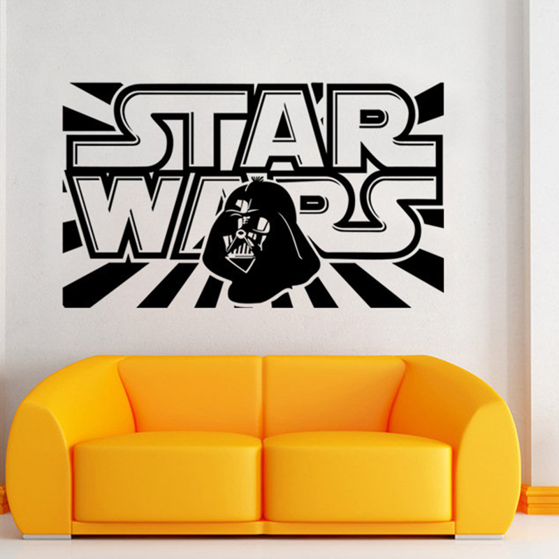 Hot Sale Star Wars Logo Huge Wall Stickers For Kids Room DIY Vinyl Wall Decals Home Decor Living Room Decoration