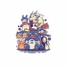 Totoro No face man японские иконы железные на теплопередачи мультфильм нашивки аниме для одежды Берта украшения полосы Diy наклейки
