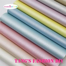 11PCS--High Quality DIY Light Color Pearl Embossed Synthetic Faux PU Leather set