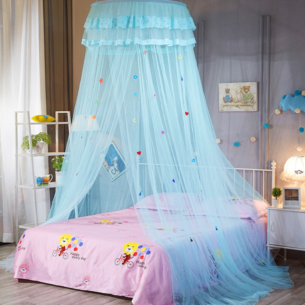Bedding Mosquito Net Alert Bedding Canopy Mesh Lace Round Dome Summer Anti-mosquito Heightened Sweet Bedroom Bed Net Sleeping Kids Cartoon Hanging Catalogues Will Be Sent Upon Request