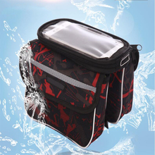 AOXIN Waterproof Cycling Bike Bag Bicycle Saddle Bag Riding Bike Accessories Bicycle Front Tube Pack For Mobile Phone