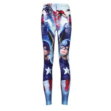 Digital PrintingElastic Casual Pants The Avengers Pattern Women Leggings 7 sizes Fitness Clothing Free Shipping