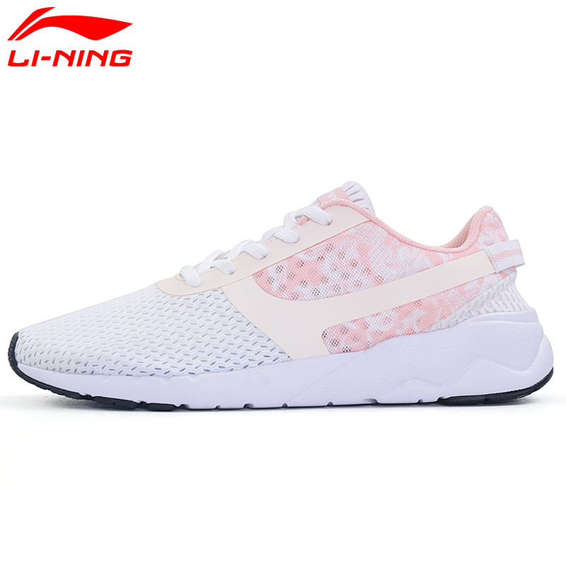 Li-Ning Women's Heather Sports Life Lifestyle Shoes Leisure Breathable Sneakers Light Sport Shoes AGCM054 YXB042