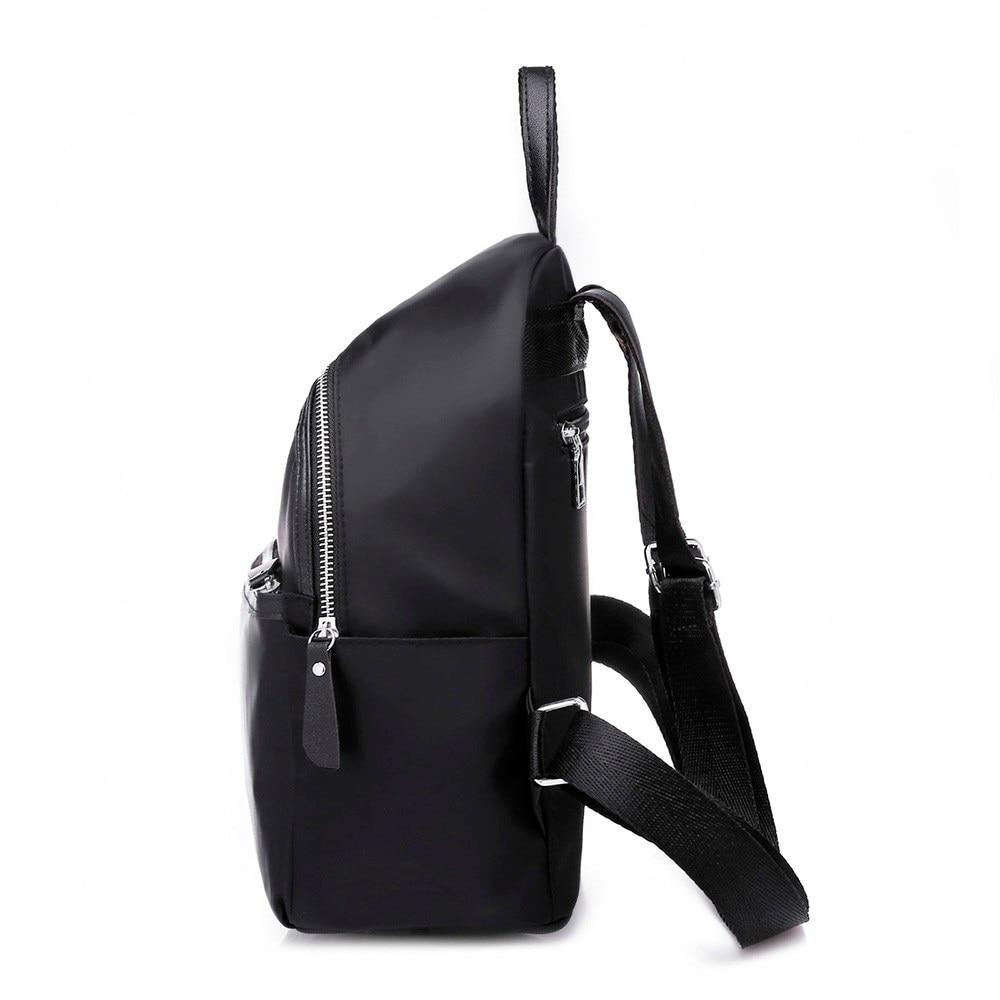 Women Backpack High Quality Nylon Leather Backpacks For Teenage Girls Female School Shoulder Circular Bag Mochila 18sep #4