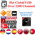 Francés H96 Pro + Europa IPTV IPTV 2200 + Canales de Alemania Holanda España Albanés Adulto IPTV y VOD 3G 32G Android 6.0 TV Box