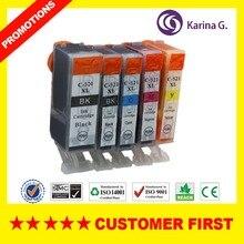 5PK Good Quality Compatible Ink Cartridge For PGI-520 CLI-521Canon PIXMA MP540/MP550/MP560/MP620,Free Shipping