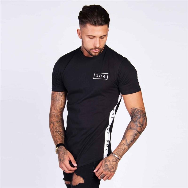 2018 nova moda 304 design de impressão dos homens t camisa criativa unindo casual masculino básico topos manga curta personalidade t
