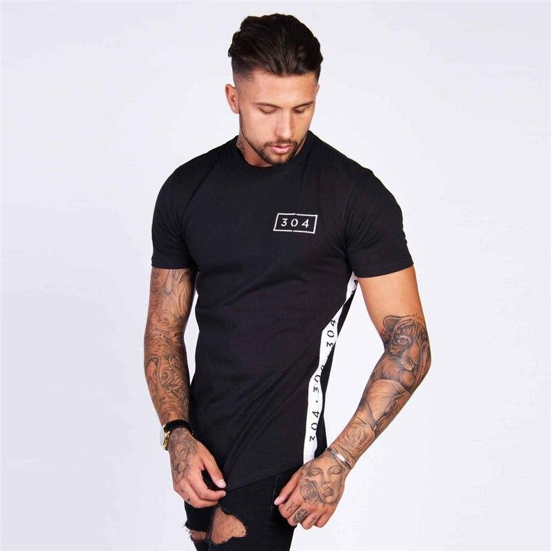 304 nueva moda 2018 diseño de impresión de los hombres camiseta creativa  uniendo juntos Casual masculino básico Tops Camiseta de manga corta  personalidad 9170cdf7f59fc