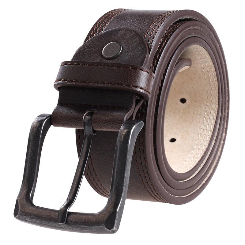 wo kann ich kaufen Gutscheincode limitierte Anzahl Herren Gürtel Designer Luxus Männer Ledergürtel Männer 2017 Rindsleder Mode  Echte Taille Strap Qualität Männlichen Metall Schnalle Gürtel