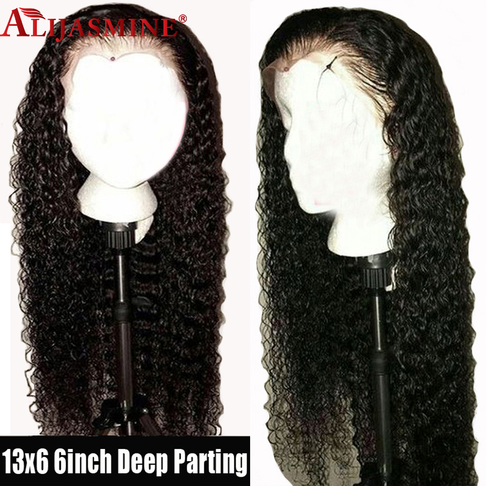13x6 Deep Part Lace Front Human Hair Wigs Pre Plucked Hairline Brazilian Water Water Remy Hair Lace Front Wig With Baby Hair-in Human Hair Lace Wigs from Hair Extensions & Wigs    1