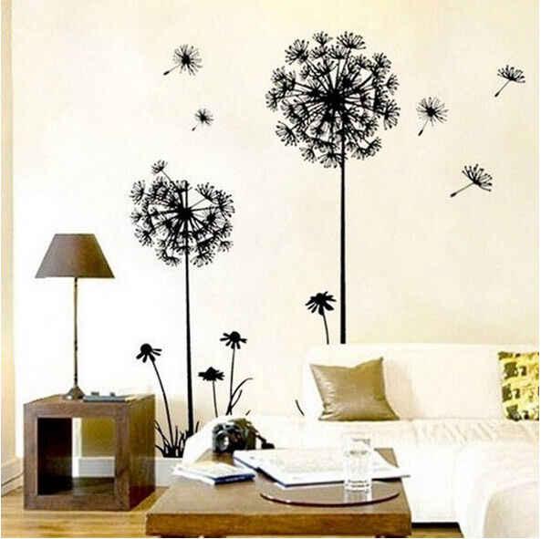 2019 ยี่ห้อใหม่ที่ถอดออกได้ห้องนั่งเล่นกันน้ำ Art ไวนิล DIY Dandelion สติ๊กเกอร์ติดผนังรูปลอกภาพจิตรกรรมฝาผนัง Home Room Decor คุณภาพสูง