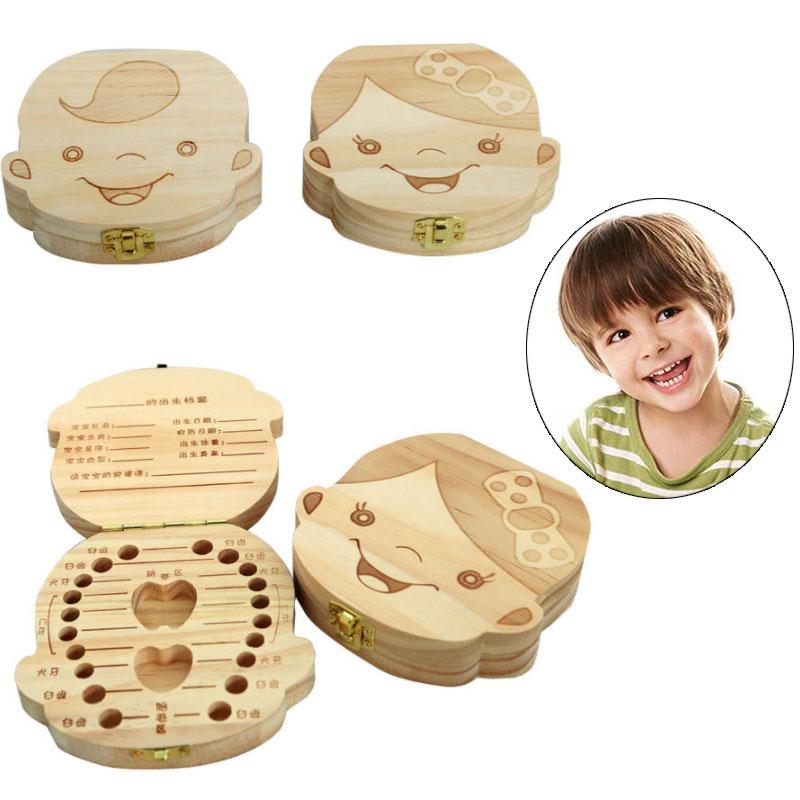 English/Spanish/French/Russian/Italian BabyTooth BoxTandendoosje In-english Milk Teeth Box In Spanish Box For Baby Teeth Gifts