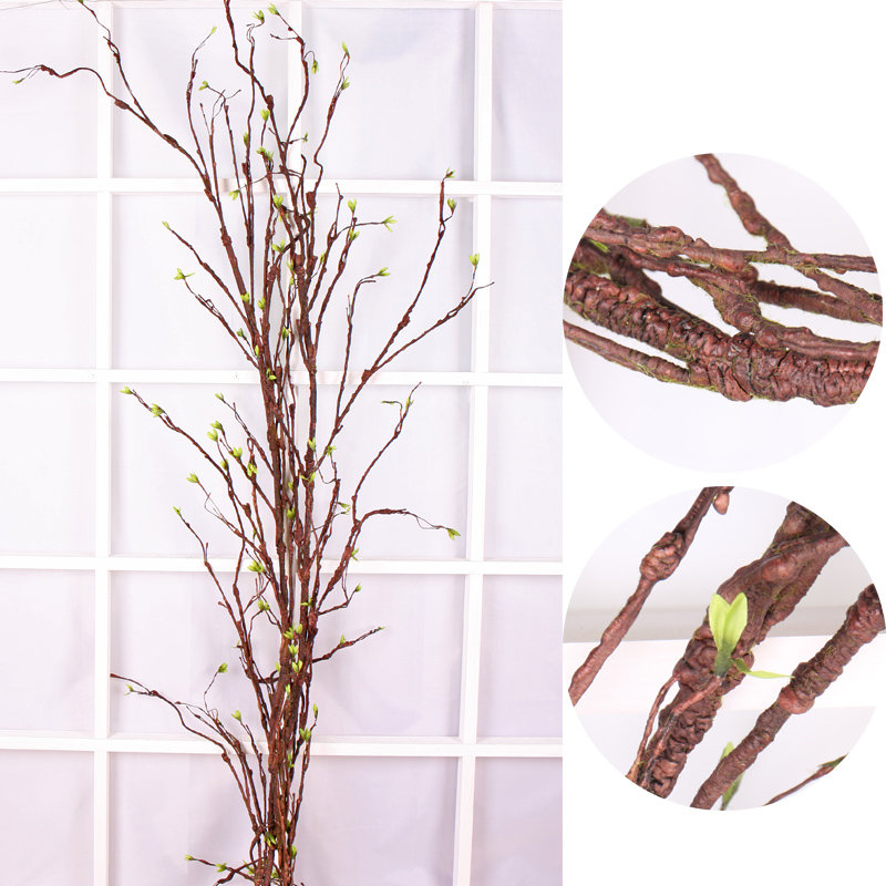 large artificial trees plastic branches real touch Tree branch Rattan Kudo Artificial Flower Vine Home Wedding party Decoration