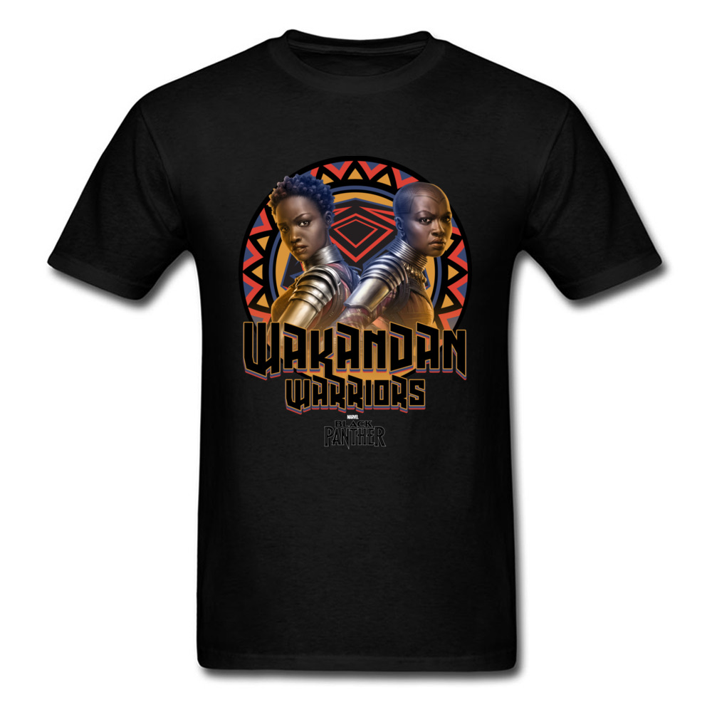 Nakia & Okoye T-shirt Black Panther T Shirt 3D Character Tshirt Mens Tops Cotton Tees Summer 80s Man Clothing