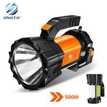Супер яркий светодиодный поисковый светильник вспышка с боковым