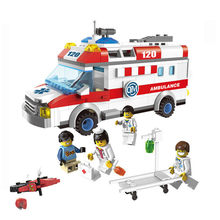 328pcs Ambulance Car Legoings Building Blocks Field Armies Cannon Small Particles Bricks Children Enlighten Toys Legoings(China)
