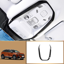 ABS / Stainless Steel Interior Front Reading Light Lamp Cove Trim 1pcs for Peugeot 3008 3008 GT Allure  / 5008 5008 GT 2017-2018 цена 2017