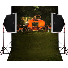 Pumpkin car deer scenic for kids photos camera fotografica studio vinyl photography background backdrop cloth digital props