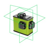 3D 12Lines Green/Red Lithium Battery Laser Level Self Leveling 360 Lithium Battery Horizontal And Vertical Cross Line