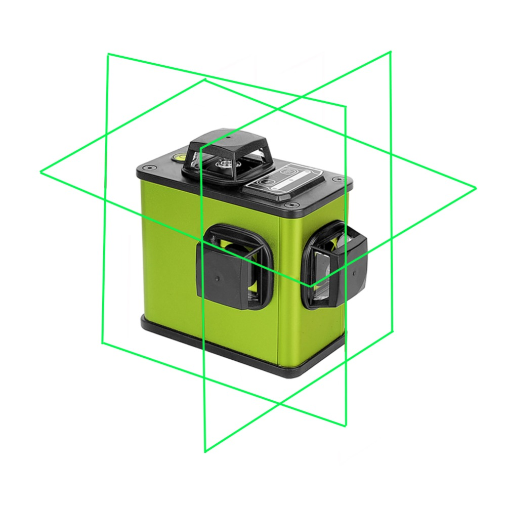 3D 12 Lignes Vert/Rouge batterie au lithium Laser Niveau Auto-Nivellement 360 batterie au lithium Horizontal Et Vertical Croix Ligne