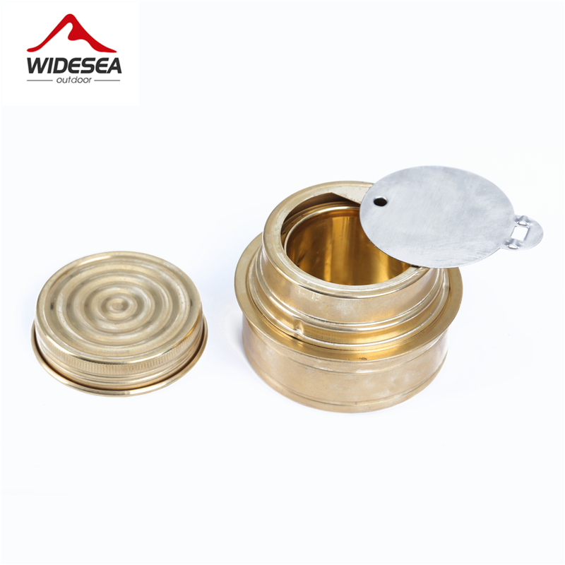 Portable Copper Alcohol Stove Mini Ultra-light Spirit Burner Gas Stoves for Outdoor Camping Pinnic Roast Food Fornello Ad Alcol